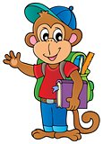 School monkey theme image 1