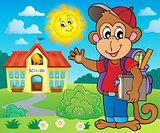 School monkey theme image 3