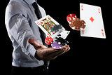 Gambler makes his bet