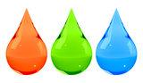 Ink drops set RGB