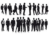 Group of business people illustration, isolated