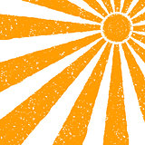 Orange Sun background