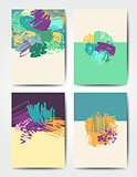 Grunge brush postcards