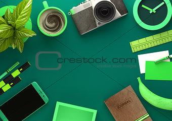 Green Desktop view of Workspace