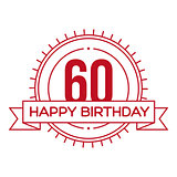 Happy Birthday Sixty years sign