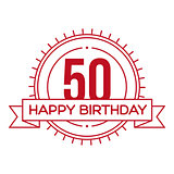 Happy Birthday Fifty years sign