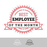Employee of the Month vintage sign
