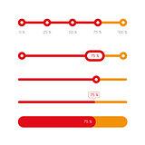 Percent progress bar set