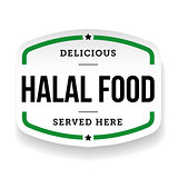 Halal Food vintage label