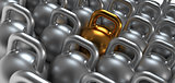 Gym weight kettle bells