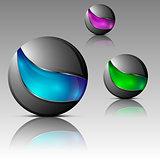 Set of futuristic orbs