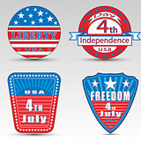 Different Independence day logos