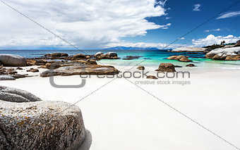 Beautiful South African beach landscape