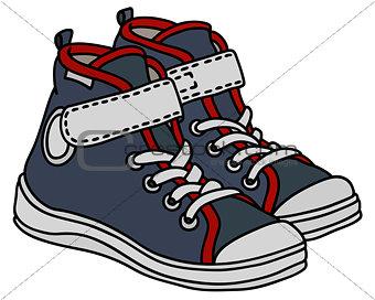 Gray children sneakers