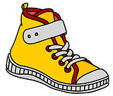 Yellow children sneaker