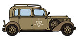 Vintage sand military personal car