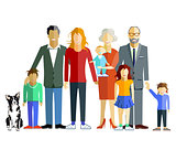 Family generation together, illustration