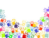 Colorful Hand Prints illustration