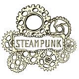 Steampunk style background