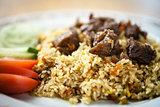 Uzbek pilaf with beef