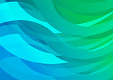 Blue Gradient Digital Wave Background
