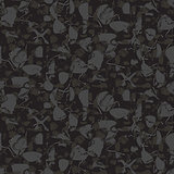 Marbled rock seamless dark gray vector pattern.