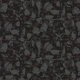 Marbled rock seamless dark gray vector pattern.