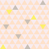 Mosaic triangle tiles seamless vector pattern.