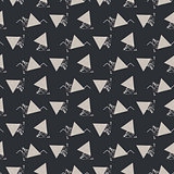 Geometric abstract triangle seamless dark gray vector texture.