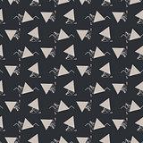 Geometric abstract triangle seamless dark gray vector texture.