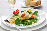 white asparagus warm salad