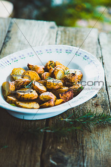 Potatoes in plate
