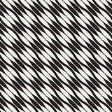 Wavy stripes vector seamless pattern. Retro wavy texture. Geometric lines monochrome design.