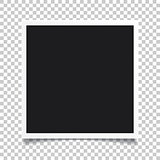 Vector photo frame.Set of realistic paper instant photograph.Tem