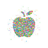 Abstract apple splash
