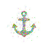 Abstract anchor splash