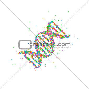 Abstract DNA splash