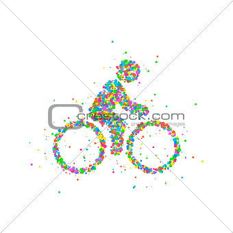 Cyclists Abstract biker
