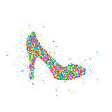 Abstract female shoe