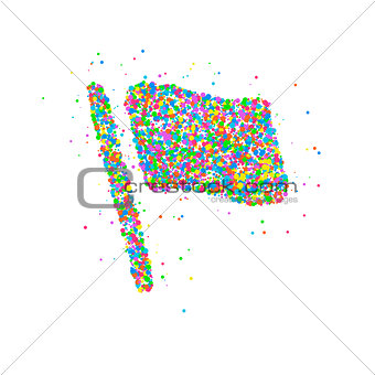 Abstract flag splash