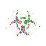 Abstract nuclear radiation sign