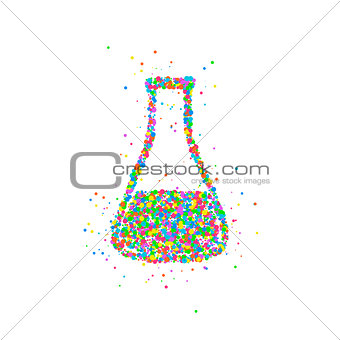 abstract test tube flask
