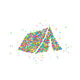Abstract tourist tent