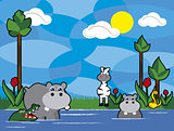 jungle animals vector cartoon 7