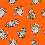cartoon pattern with cats