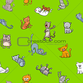 cartoon wallpaper design with cats