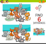 spot the differences with cats or kittens