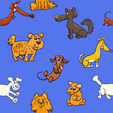 cartoon pattern with dogs