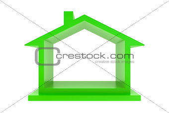 green house on white