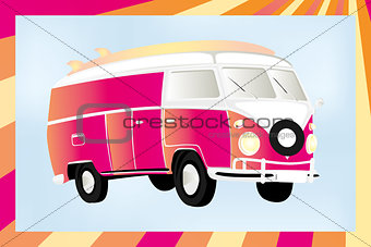 Camper-car in motion